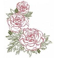 Дизайн машинной вышивки Три розы скачать