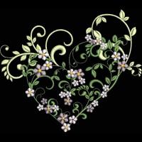 Дизайн машинной вышивки Нежное сердце скачать