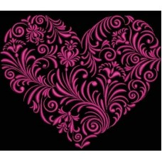 Дизайн машинной вышивки Цветочное сердце 2 скачать