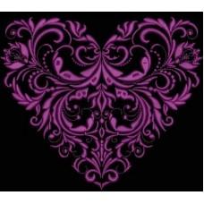Дизайн машинной вышивки Винтажное сердце скачать