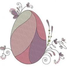 Дизайн машинной вышивки Пасхальное яйцо с бабочками скачать