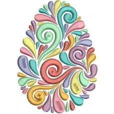 Дизайн машинной вышивки Пасхальное яйцо радужное скачать