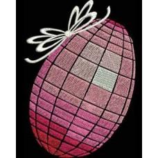 Дизайн машинной вышивки Пасхальное яйцо в сетке скачать