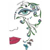 Дизайн машинной вышивки Цветочная маска скачать