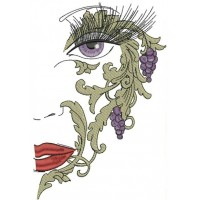 Маска с виноградом