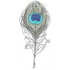 Дизайн машинной вышивки Перо Голубой глаз скачать