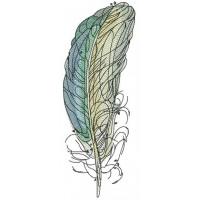 Дизайн машинной вышивки Цветные перья скачать