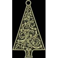 Дизайн машинной вышивки Подвеска Рождественская ёлка скачать