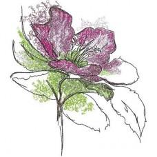 Дизайн машинной вышивки Раскрытый цветок скачать