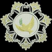 Дизайн машинной вышивки Снежинка Голубка скачать