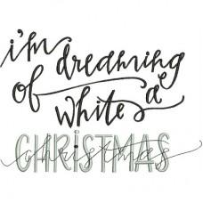 Дизайн машинной вышивки Я мечтаю о белом Рождестве скачать