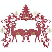Два рождественских оленя