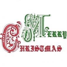 Дизайн машинной вышивки Merry Christmas скачать