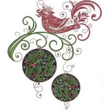 Птица на новогодней ветке