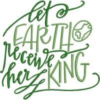 Дизайн машинной вышивки Пусть Земля получит своего Царя скачать