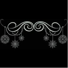 Дизайн машинной вышивки Завитки и снежинки скачать