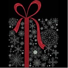 Дизайн машинной вышивки Новогодний подарок скачать