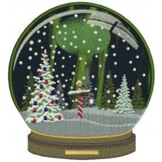Дизайн машинной вышивки Шар Северный полюс скачать