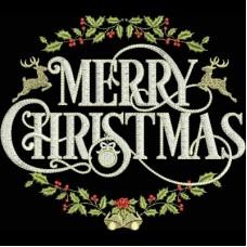 Дизайн машинной вышивки Поздравление с Рождеством скачать