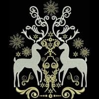 Орнамент с оленями