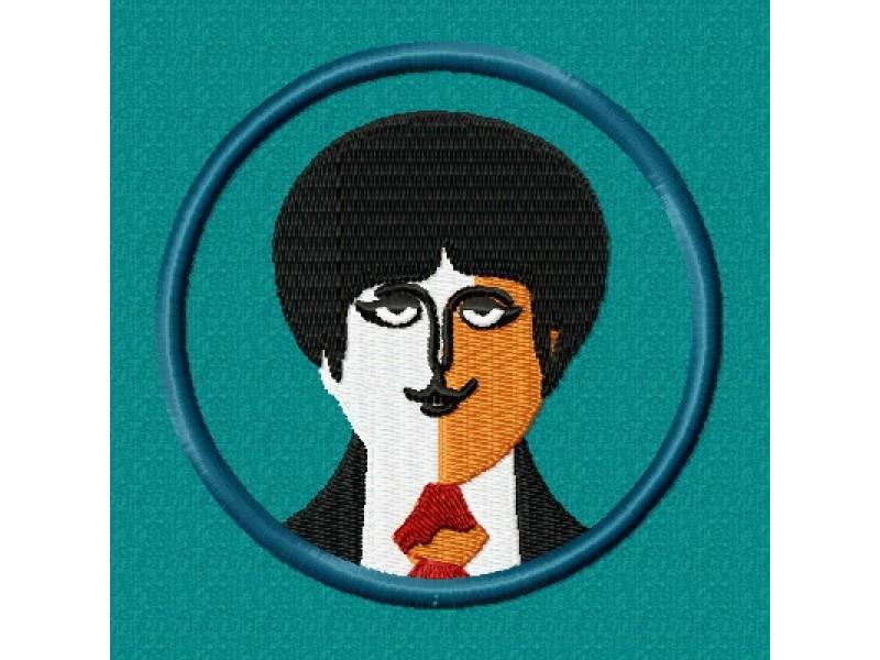Дизайн машинной вышивки Вышивка Beatles Paul скачать