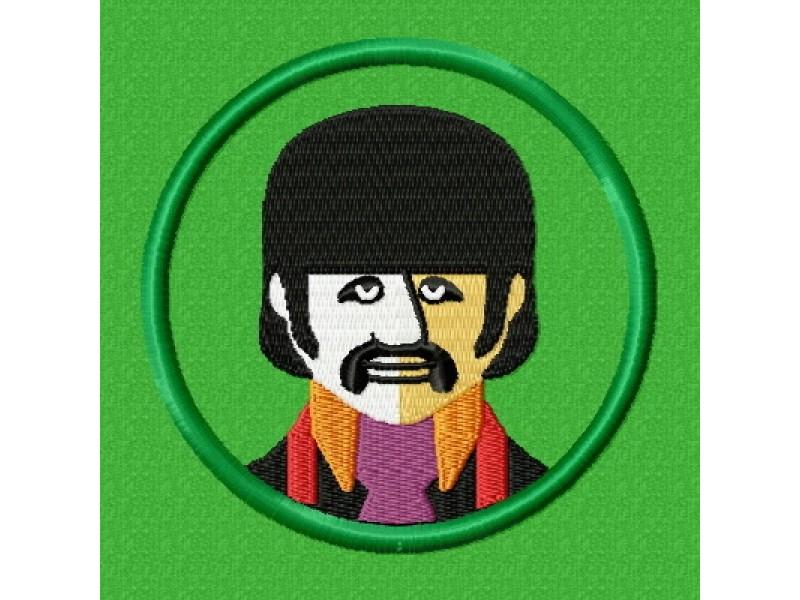 Дизайн машинной вышивки Вышивка Beatles Ringo скачать
