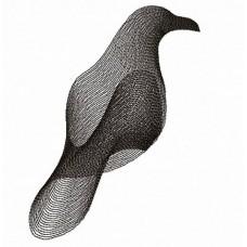 Дизайн машинной вышивки Черный ворон скачать