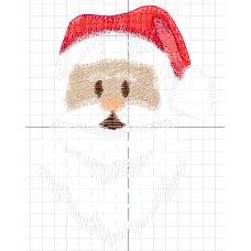 Дизайн машинной вышивки Дед Мороз скачать