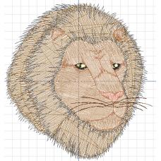Дизайн машинной вышивки Смуглый лев скачать