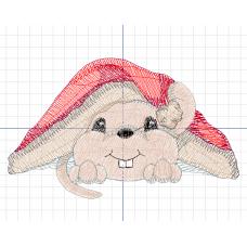 Дизайн машинной вышивки Мышка под ковриком скачать