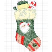 Рождественский носок с подарками