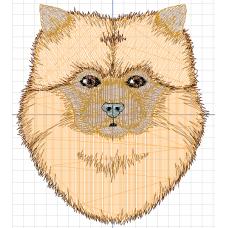 Дизайн машинной вышивки Рыжий пёс скачать