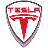 Дизайн машинной вышивки Tesla скачать