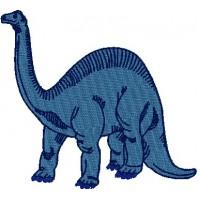 Дизайн машинной вышивки Динозавр Диплодок скачать