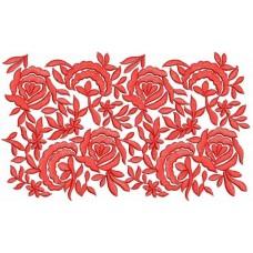Дизайн машинной вышивки Красная кайма скачать