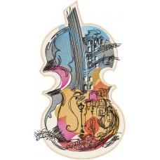 Дизайн машинной вышивки Скрипка скачать