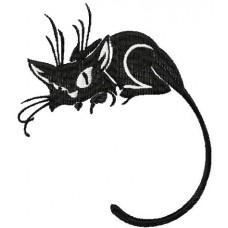 Дизайн машинной вышивки Чёрный котёнок скачать