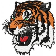 Дизайн машинной вышивки Голова тигра скачать