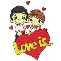 Дизайн машинной вышивки Love is... скачать