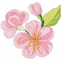 Дизайн машинной вышивки Яблочный цвет скачать
