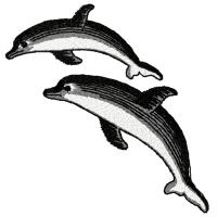 Дизайн машинной вышивки Дельфины скачать