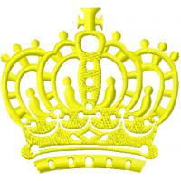 Дизайн машинной вышивки Золотая корона скачать
