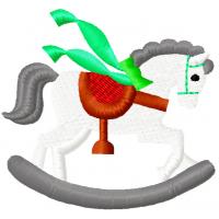 Дизайн машинной вышивки Лошадка-качалка скачать