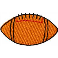 Дизайн машинной вышивки Мяч американский футбол скачать