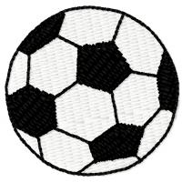 Дизайн машинной вышивки Футбольный мяч скачать