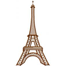 Дизайн машинной вышивки Эйфелева башня скачать