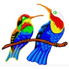 Дизайн машинной вышивки Яркие птички скачать