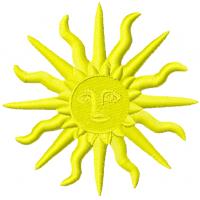 Дизайн машинной вышивки Яркое солнце скачать