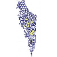 Дизайн машинной вышивки Узор для блузы 7 скачать