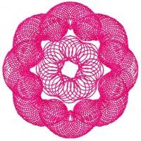 Дизайн машинной вышивки Круглый орнамент скачать